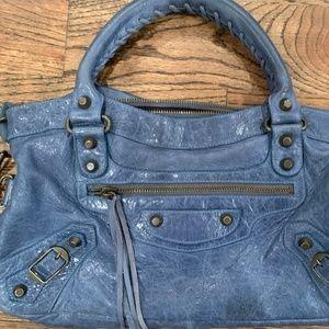 Balenciaga Classic City Shoulder Bag in Blue